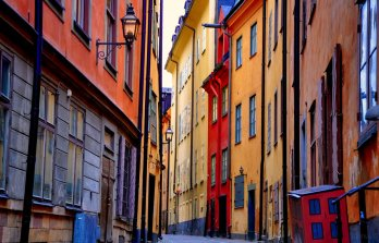 Colorful streets of Gamla stan